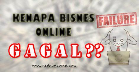 bisnes online, buat duit, gagal