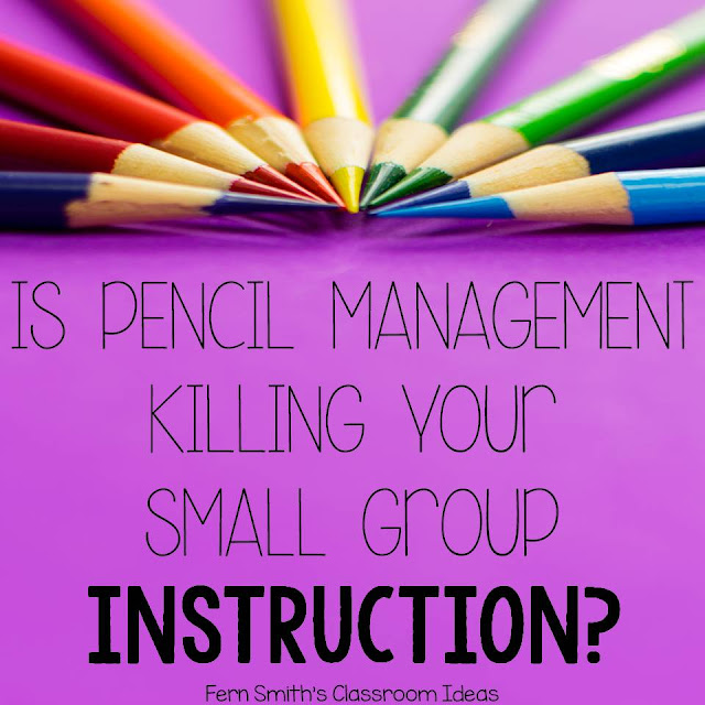 Fern Smith's Classroom Ideas - Is Pencil Management Killing Your Small Group Instruction Time? A K-2 I Teach Linky Party!