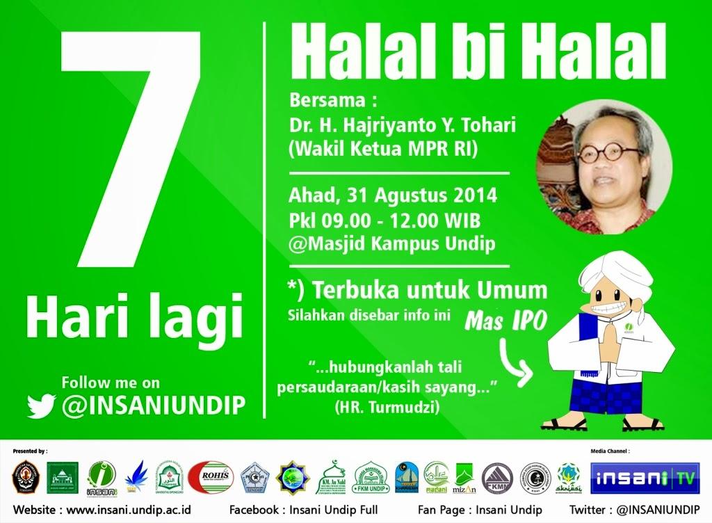 Pamflet Countdown Halal Bi Halal Insani Undip Sukadesain