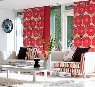 diseño de sala color coral