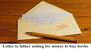 Letter to father asking for money to buy books