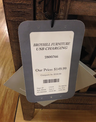 Price at TJ Maxx for the Weathered Gray Broyhill Chairside Table