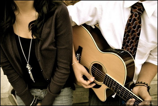 Couple, Playing, Guitar, Cute