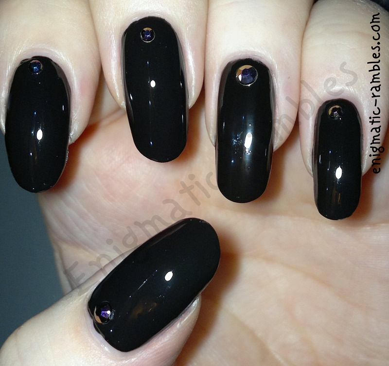 Black-Iridescent-Cuticle-Gem-Nails-Nail-Art-Cuticle-Accent