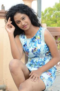 Actress Priyankha Stills in Floral Short Dress at Golmal Gullu Movie Pressmeet 0271.JPG