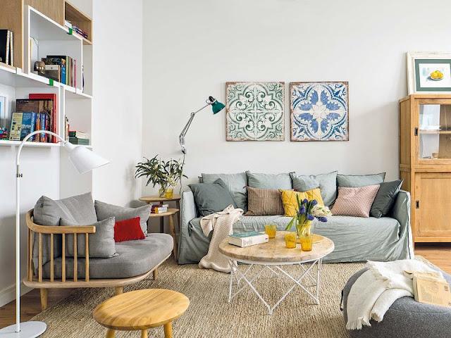 Plăci ceramice pentru un plus de stil într-un apartament din Barcelona