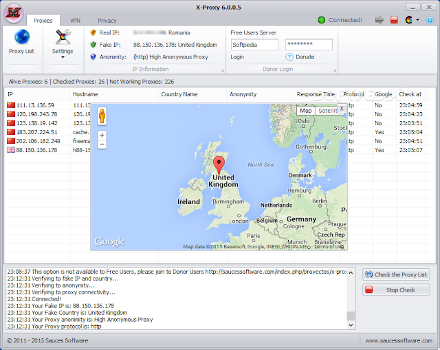 تحميل برنامج اكس بروكسي للكمبيوتر مجانا X-Proxy 6.1
