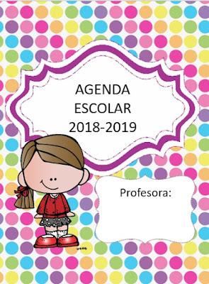 Agenda escolar 2017-2018 para imprimir