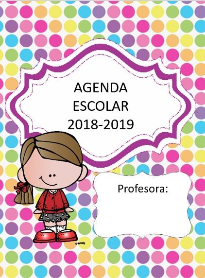 Agenda escolar para imprimir