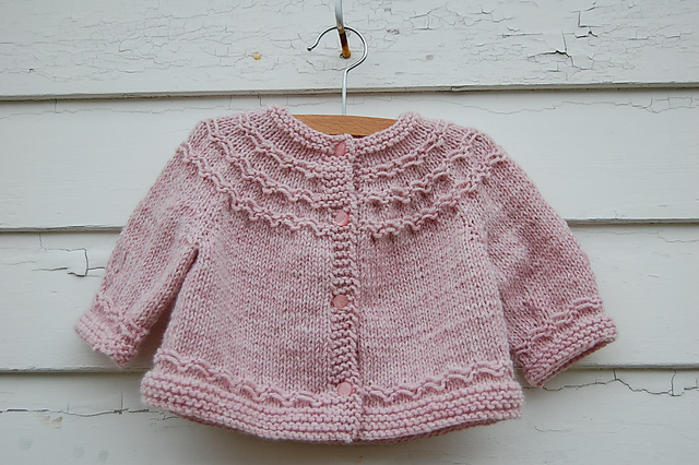 Knitting Pattern For Baby Seamless Yoked Sweater : Top Ten FREE baby sweater patterns - Knitionary