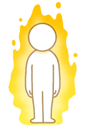 オーラのイラスト(黄色)