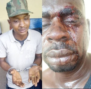 Update: Fake soldier who attacked Baba Fryo has been arrested