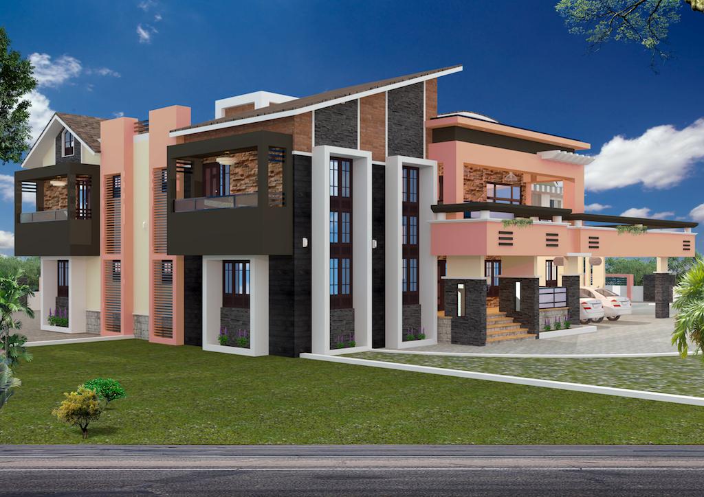 Modern 8475 sq ft  5 Bedroom floor plan