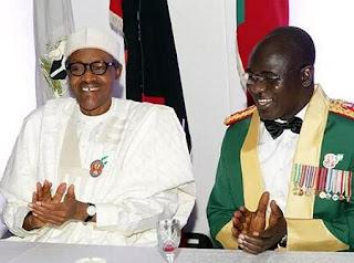 President Muhammadu Buhari and Tukur Buratai