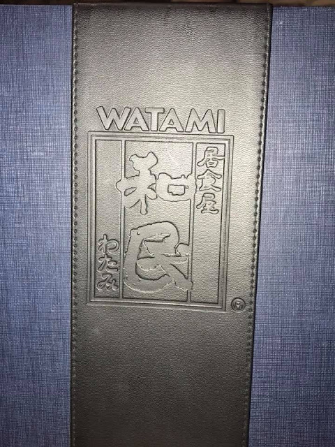 Watami Grill and Sushi Bar menu