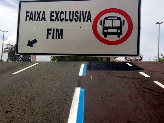 Veja como funcionam as faixas exclusiva e preferencial do BRT em Aracaju