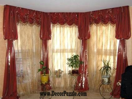 luxury classic curtains and drapes 2017, red curtains designs for living room