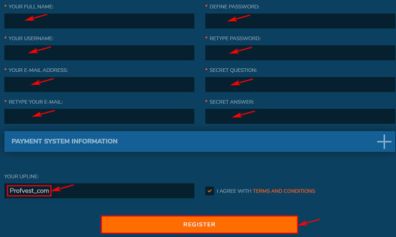 Регистрация в Bitster LTD 2