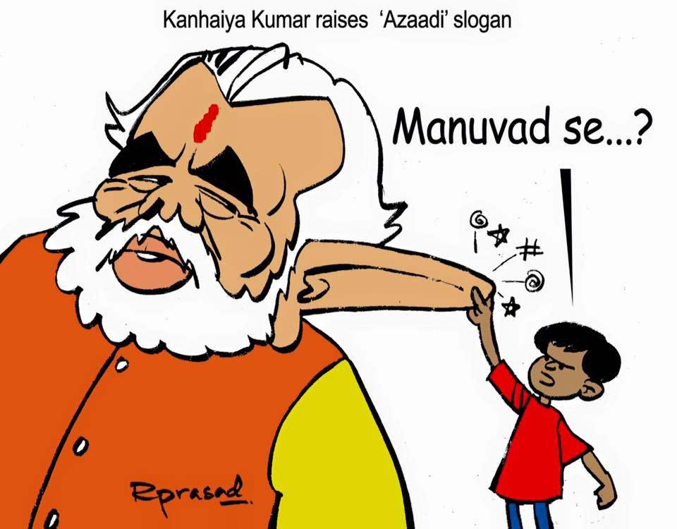 Kanhaiya Kumar raises 'Azaadi' slogan