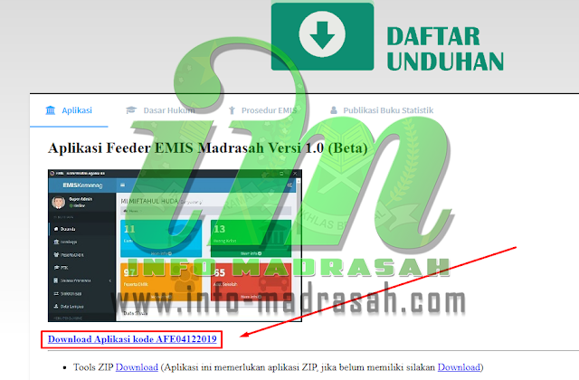 Cara Download Aplikasi EMIS FEEDER