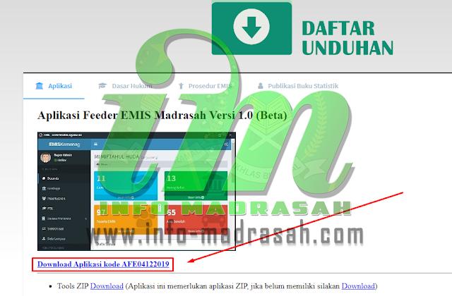 Cara Download Aplikasi EMIS FEEDER