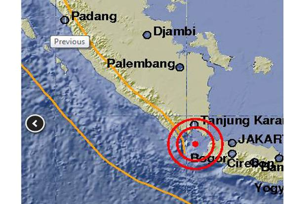 Gempa 5,2 SR Guncang Banten dan Selat Sunda