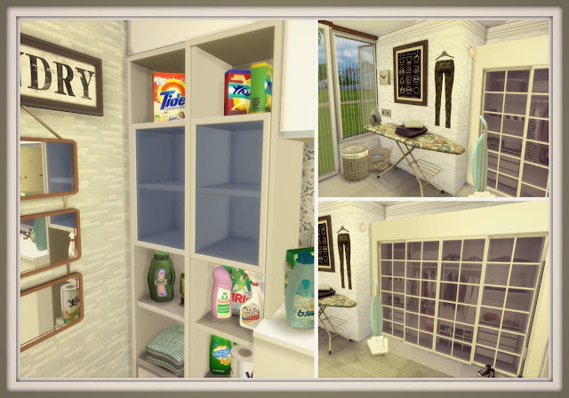 Sims 4 laundry room dinha for Room decor sims 4