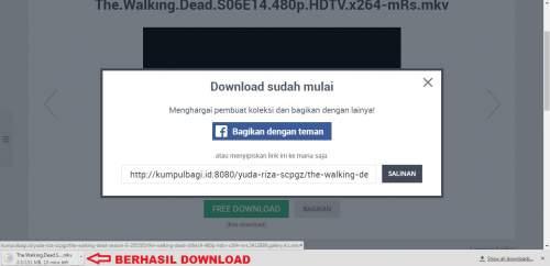 Berhasil download file di kumpulbagi