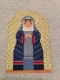 carol dupree needlepoint nativity mary