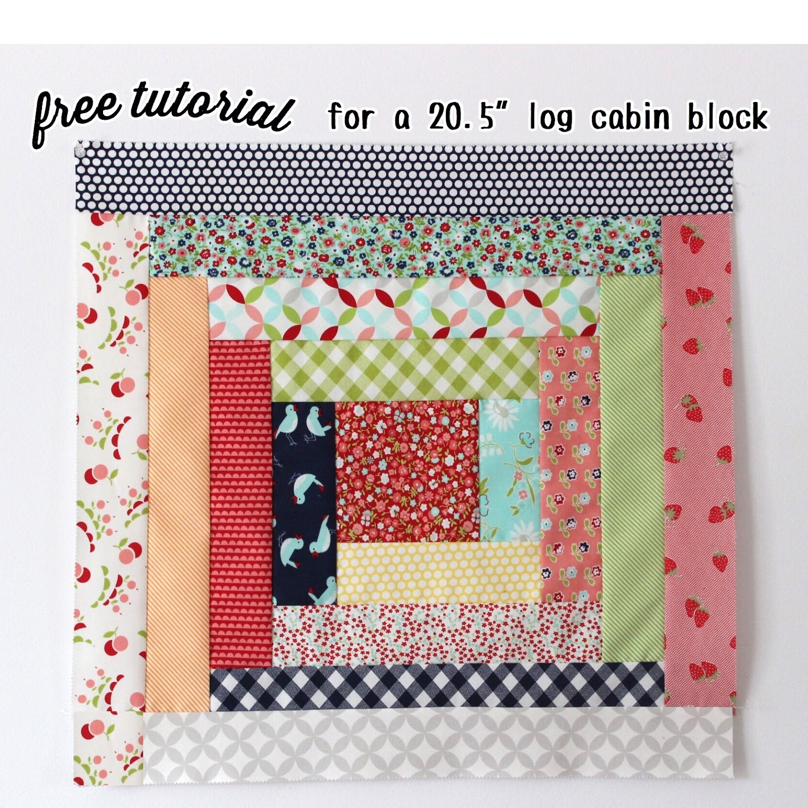Free 205 Log Cabin Block Tutorial Hilltop Custom Designs