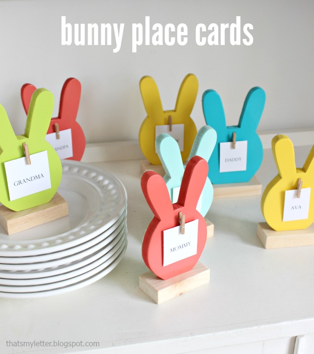 Tutorial to make bunny place card holders