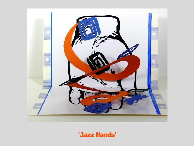 Jazz Hands, pop up card by Minaz Jantz