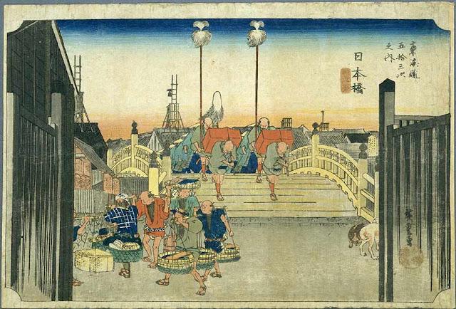 東海道五十三次、日本橋
