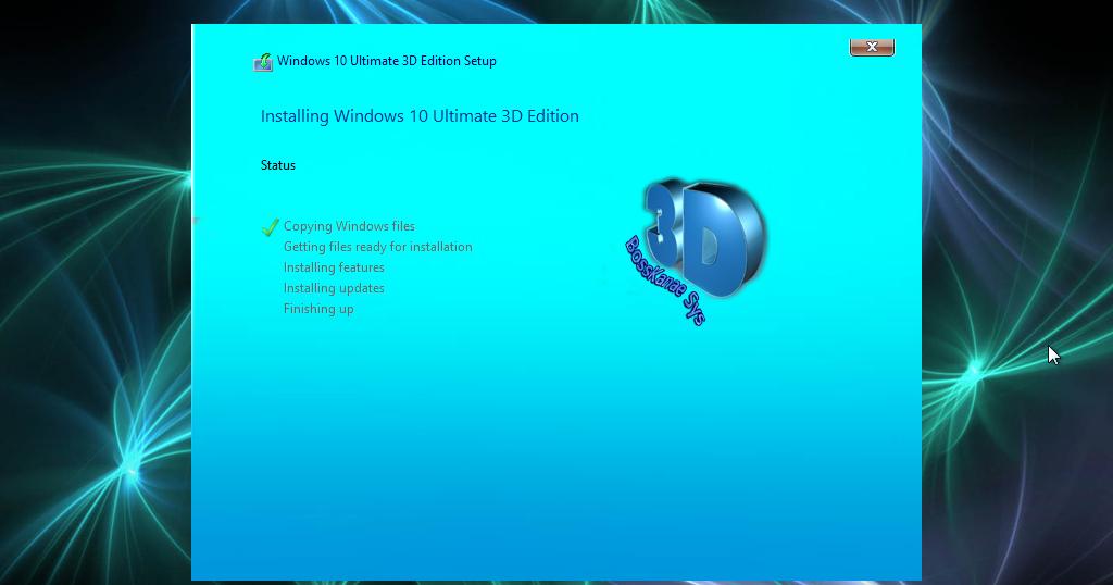 Windows 10 3D Super Lite ( 32Bit ) Cuma 1,1GB   ANACONDA