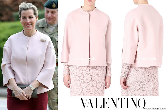 Countess Sophie wore Valentino Pink Wool Drill Cocoon Jacket