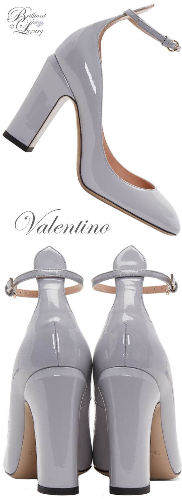 Brilliant Luxury ♦ Valentino Grey Tango Mary Jane Heels