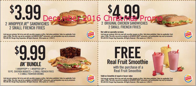 Burger king coupons december 2019