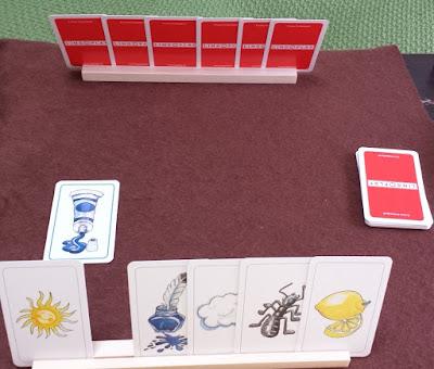 楽しい色並べ Farben Lernen 絵の具カードを出す