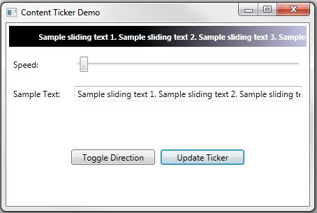 WPF/Silverlight Content Ticker/News Ticker Control - CodeProject