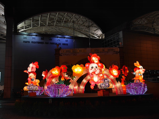 Mid-Autumn Festival lantern display at Portas do Cerco in Macau