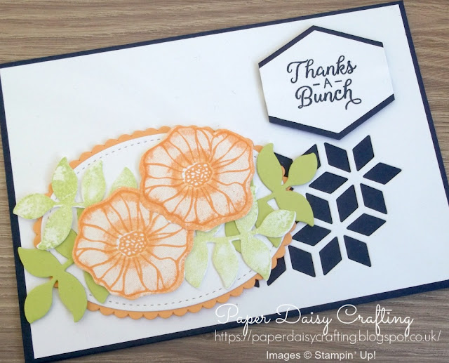 Oh So Eclectic from Stampin' Up handmade thank you card