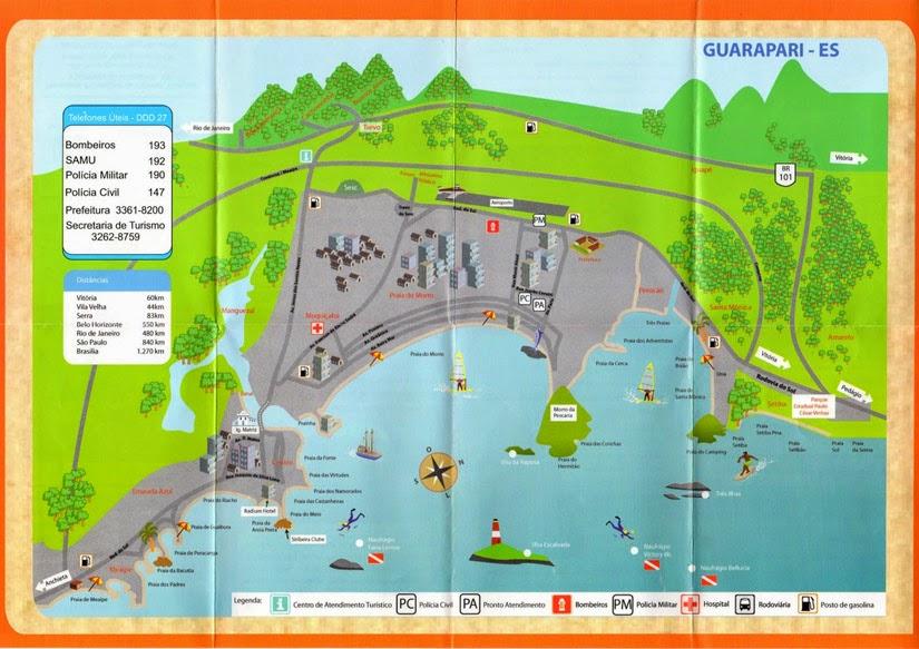 Mapa Guarapari