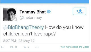 Tanmay Bhat Tweet on Child Rape