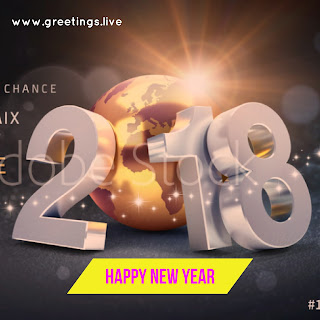 3D Greetings on HAPPY NEW YEAR 2018 GREETING