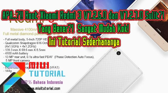 APA..?!! Root Xiaomi Redmi 3 V7.2.6.0 dan V7.2.7.0 Sulit?! Yang Bener?! Sangat Mudah Kok! Ini Tutorial Sederhananya