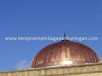 Kerajinan Kubah Masjid Tembaga Kuningan