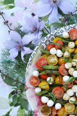 Grilling Bucket List - Grilled Asparagus Summer Caprese Salad #Celebrate365
