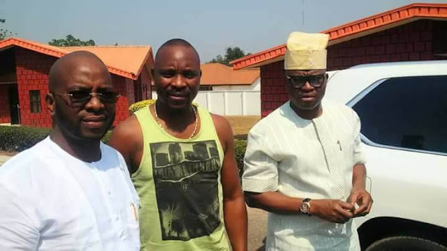 Gov Fayose Reportedly Gifts His Brother, Isaac, Hummer Jeep on His Birthday (Photos)