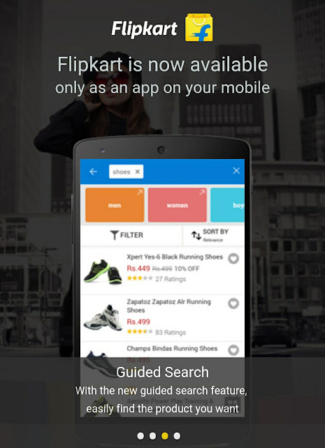 smart guided search on flipkart app