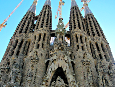 Top of Sagrada Familia in Barcelona